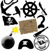 Pirates elements — Stock Vector