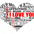 Royalty-Free Stock Vector Image: Various love words