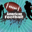 Royalty-Free Stock Imagen vectorial: American football poster