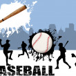 Street baseball — Stock Vector #4869598