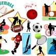 Stock Vector: Sports icons and symbol