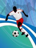 サッカー デザイン ポスター — ストックベクタ