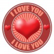 Stock Vector: I love you label