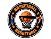 Basketball label — Stock Vector
