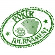 Poker tournament stamp — Vettoriali Stock