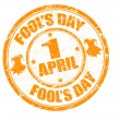 Fool's day stamp - Stockvectorbeeld