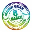 Royalty-Free Stock Vector Image: Mardi Gras stamp