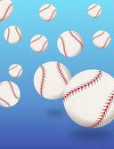 Baseballs bouncing — Stock Vector