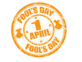 Fool's day stamp — Stockvector