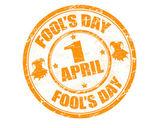 Fool's day stamp — Vector de stock