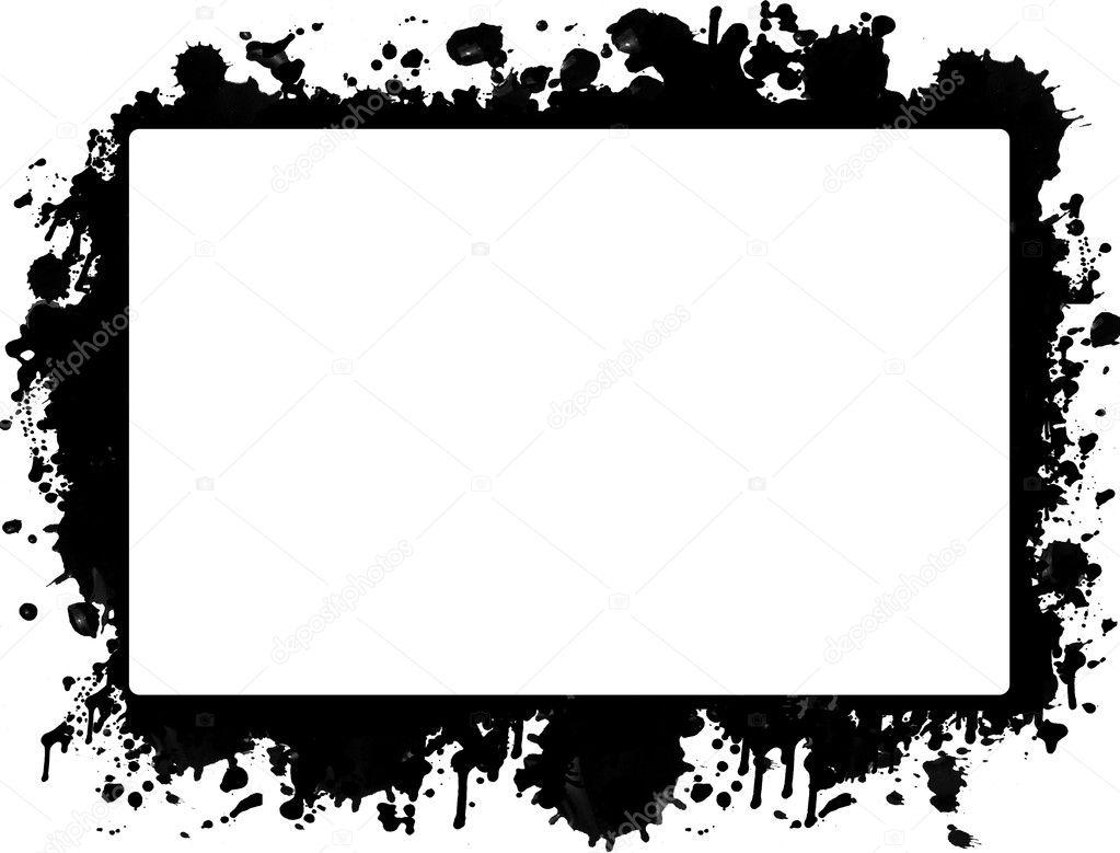 ink splat border � stock vector 169 roxanabalint 4964009