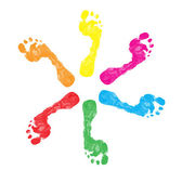 Colorful foot prints — Stock Vector