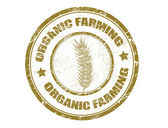 Organic farming stamp — Stock Vector