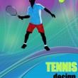 Tennis design poster — Stock Vector #5022381