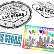 Las Vegas stamps - Stock Vector