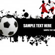 Grunge soccer poster - Stock Vector
