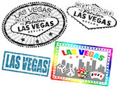Las Vegas stamps — Stock Vector