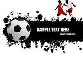 Grunge soccer poster — Stock Vector