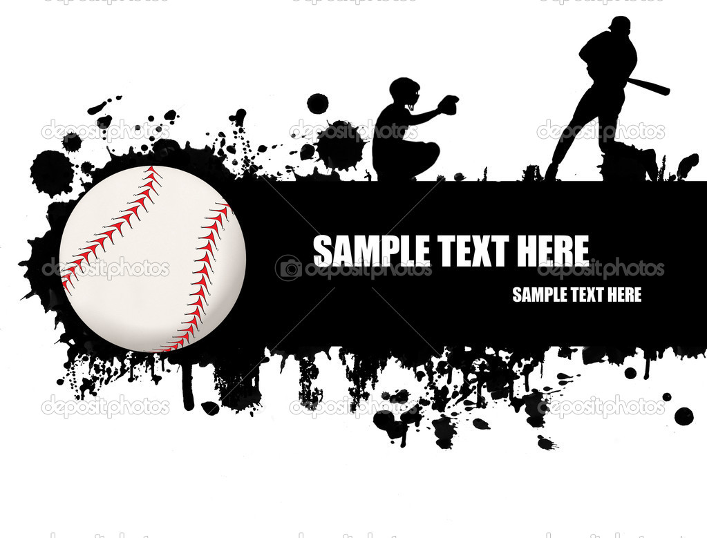 Grunge baseball poster with baseball ball and players,vector illustration  Stock Vector #5025812