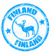 Stock Vector: Finland stamp
