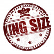 King Size stamp - Stock Vector