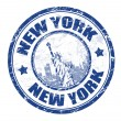 New York stamp — Stok Vektör