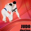 Judo design poster — Stock Vector #5107737