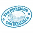 San Francisco text — Stock Vector