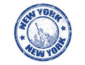 New York stamp — Stock Vector