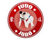 Judo label — Stock Vector