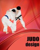 Cartel diseño de judo — Vector de stock