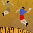 Handball abstract background — 图库矢量图片