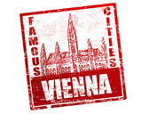 Vienna stamp — Stock Vector
