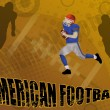 Royalty-Free Stock Imagen vectorial: American football abstract background