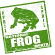Stock Vector: National Frog Month stamp