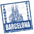 Barcelona stamp — Stock Vector