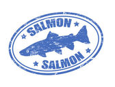 Salmon stamp — Stock Vector