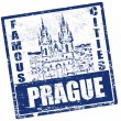 Prague stamp — Stok Vektör