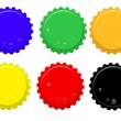 Set of bottle tops — Stock Vector