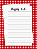 Blank shopping list — Stock Vector