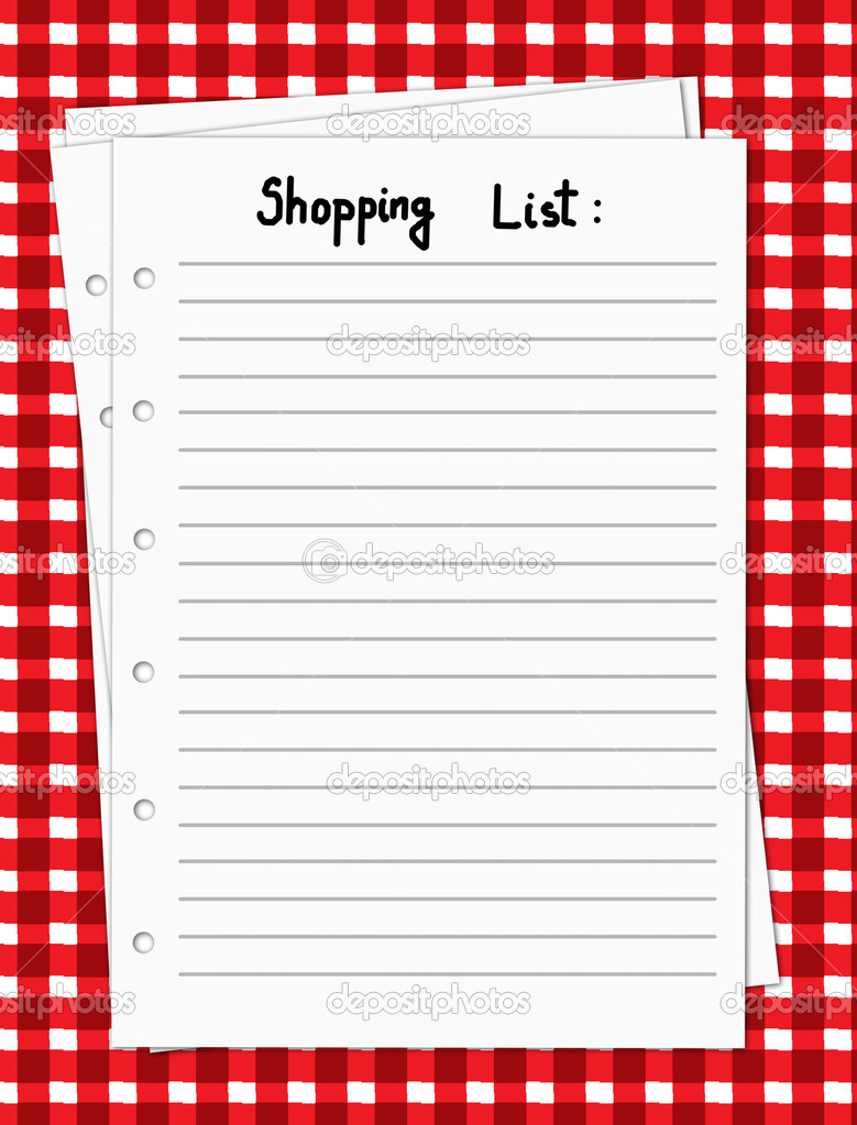 "Calendar Illustration List : Search results for ""grocery list template blank"
