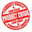 Stock Vector: Product crisis stamp