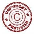 Copyright protected stamp - Image vectorielle