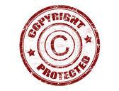 Copyright beschermde stempel — Stockvector