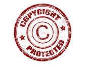 Copyright protected stamp — 图库矢量图片