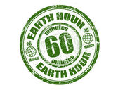 Earth hour stamp — Stock Vector