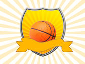 Basket sköld — Stockvektor
