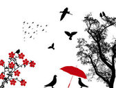 Birds background — Vecteur