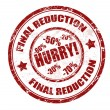 Stock Vector: Final reduction stamp