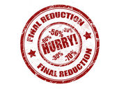 Final reduction stamp — Stock Vector